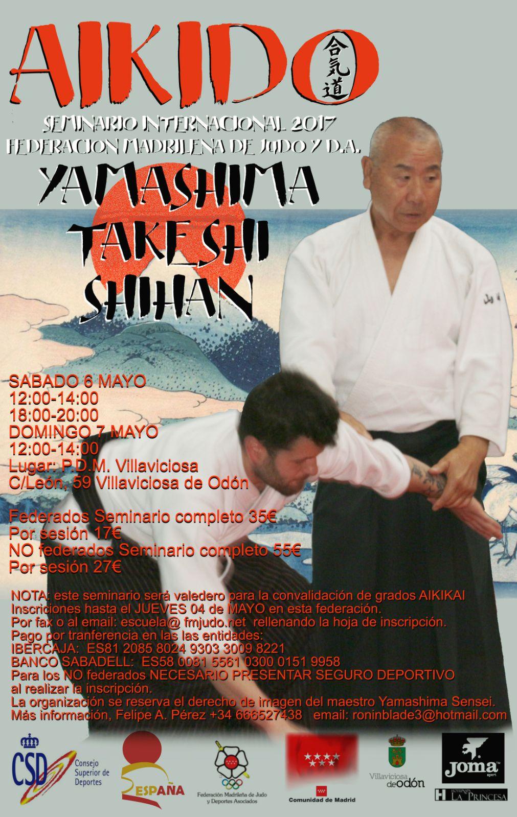 Curso Aikido Yamashima en Madrid 2017